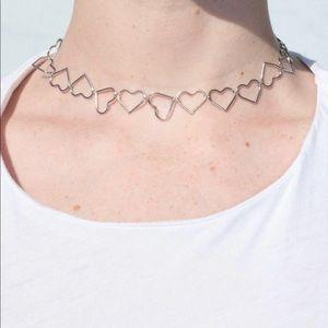 Brandy Melville heart chain choker